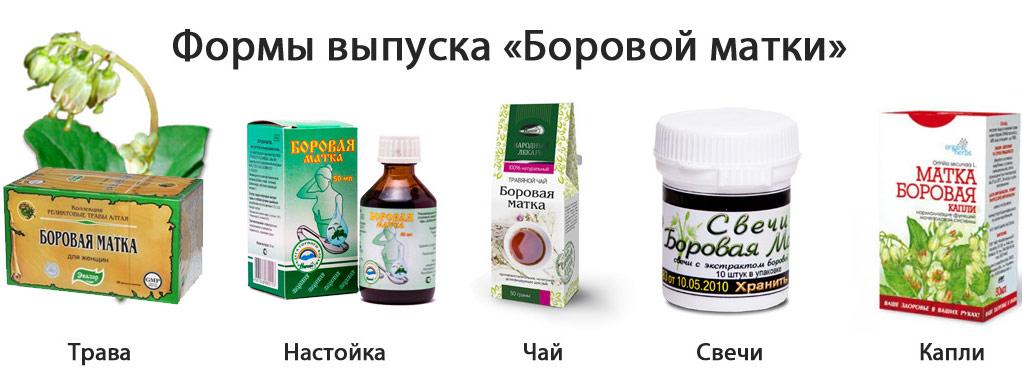 Препараты на основе боровой матки